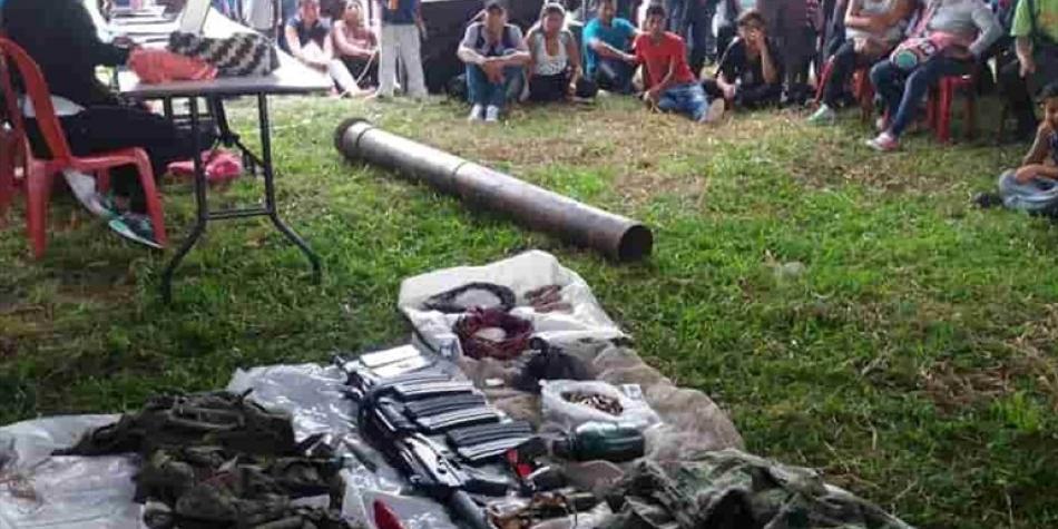 Justicia indígena colombiana condena a dos miembros del ELN (+VIDEO)