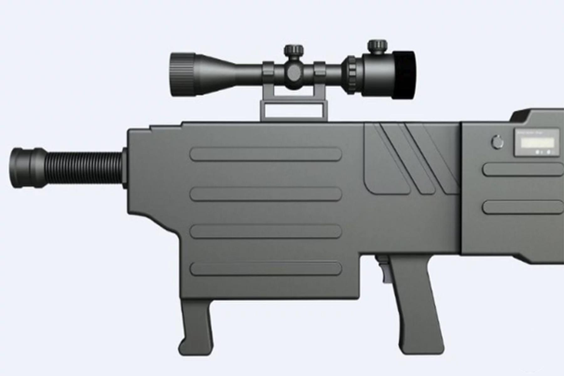Empresa china presentó un rifle que provoca la carbonización instantánea