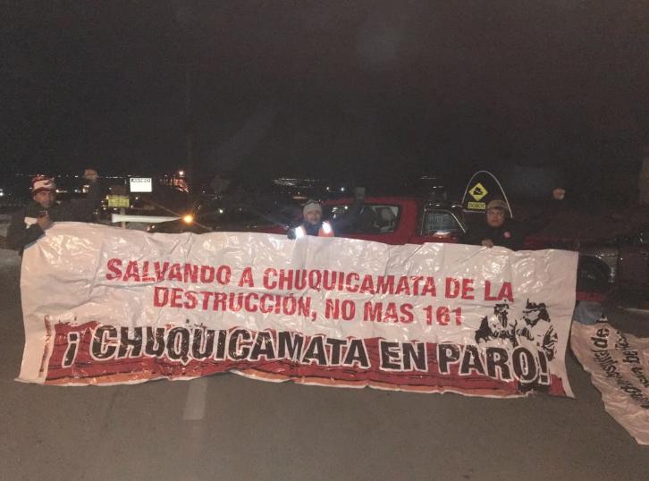 Trabajadores de Chuquicamata inician paro total: exigen reintegros y participación en toma de decisiones