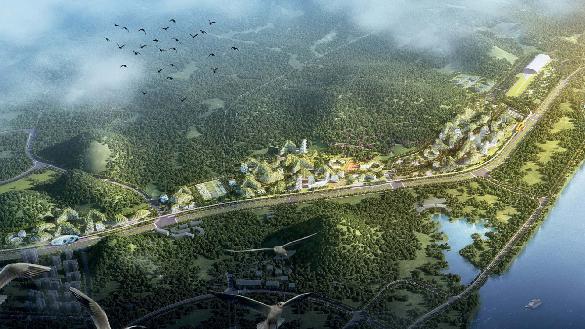 China anuncia la construcción de 300 ciudades forestales para 2025