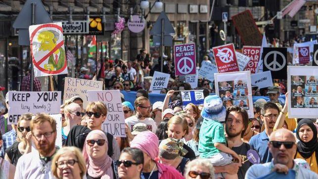 Manifestaciones en Helsinki de cara a la cumbre Tump-Putin transcurren sin incidentes