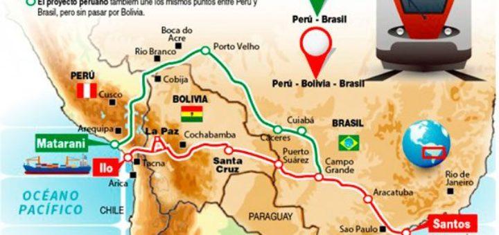 Bolivia y Brasil analizarán detalles del proyecto del tren bioceánico
