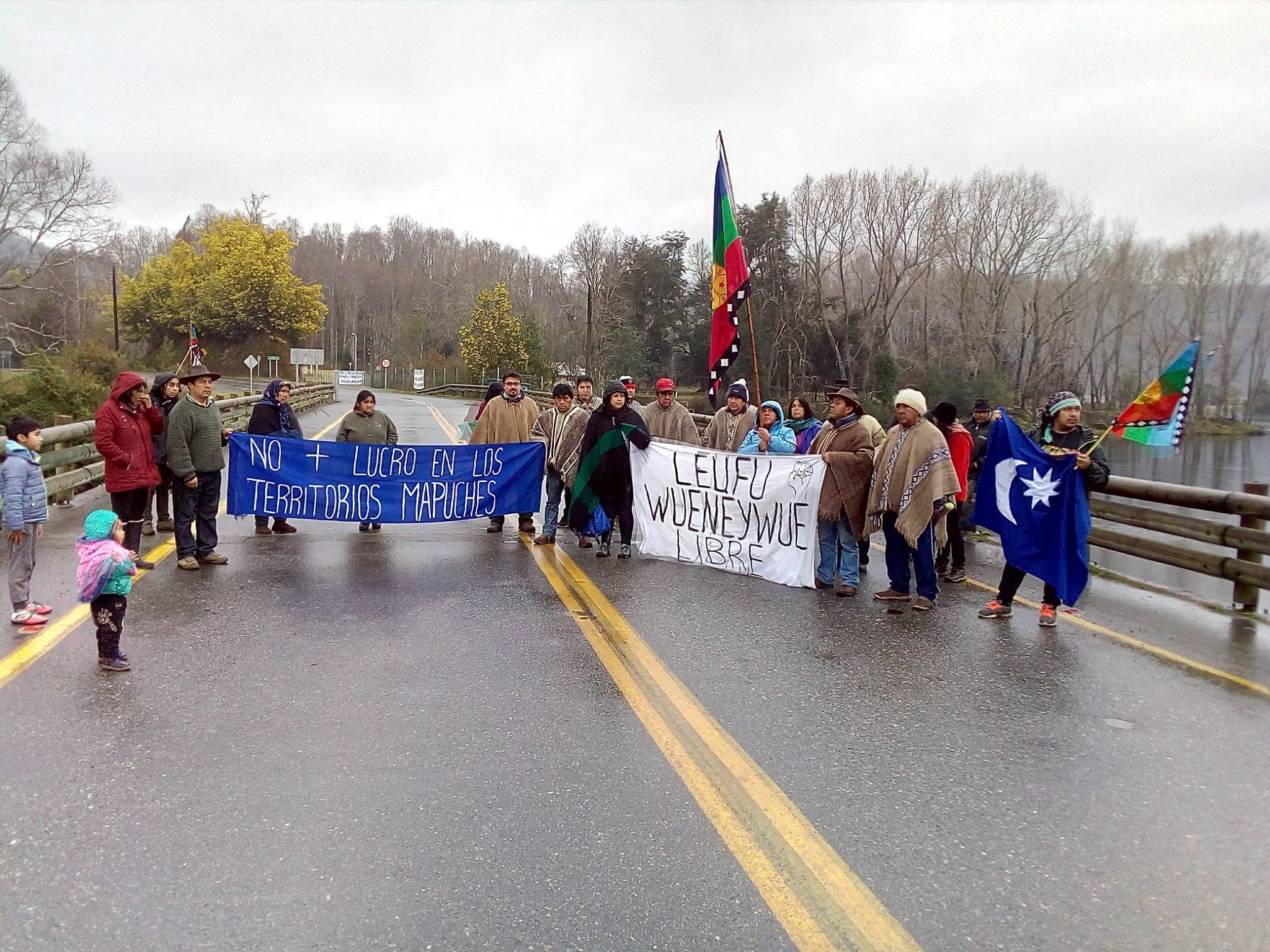 Asociación Leufü Wueneywue se manifiesta en defensa del río Wueneywue