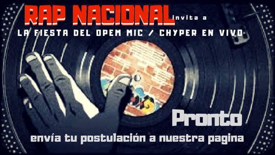 """Movimiento """"Rap Nacional"""" lanza competencia de Open Mic"""