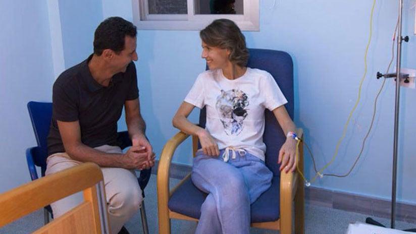Tumor maligno acecha a esposa de Bashar al Assad