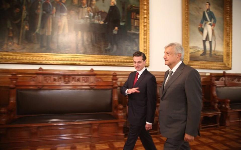AMLO y Peña Nieto se reúnen este jueves por transición presidencial