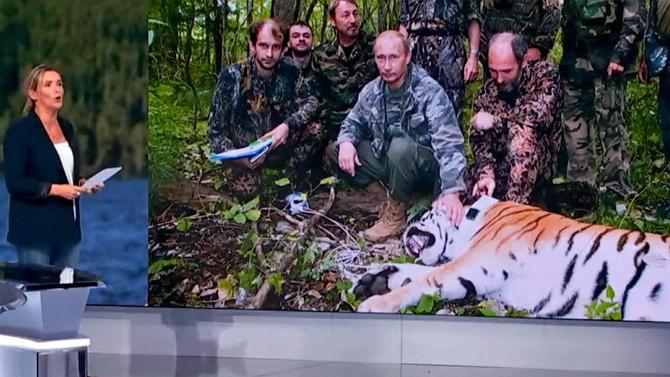 Televisora francesa se disculpó por mentir y presentar a Putin como un «cazador de tigres»