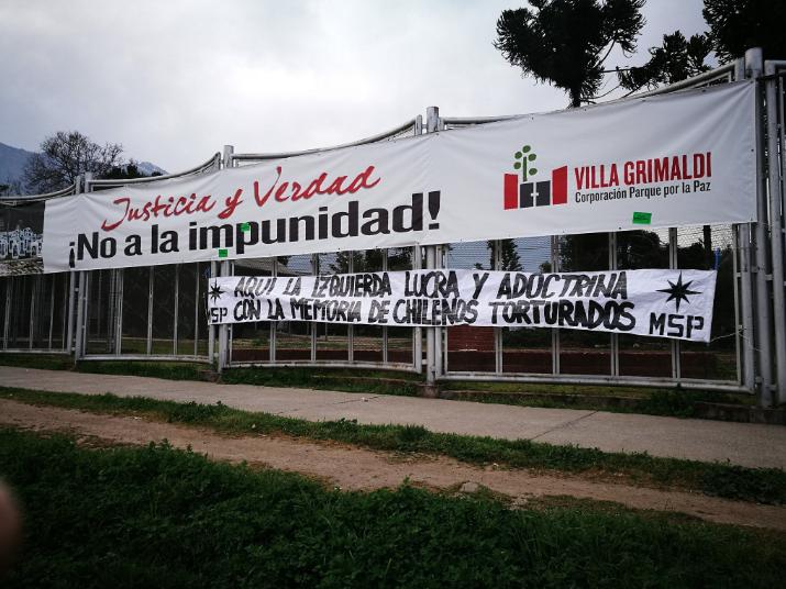 """Fuerte reacción contra """"acto de profanación"""" de movimiento nacionalista en Villa Grimaldi"""