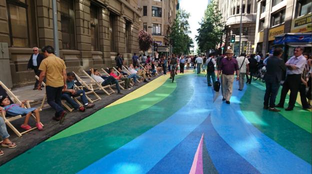 Definitivo: calle Bandera seguirá siendo paseo peatonal entre Moneda y Compañía