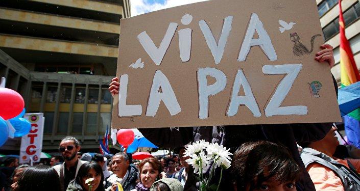 """""""Por la vida y la paz"""" piden continuidad de Acuerdo de Paz en Colombia"""