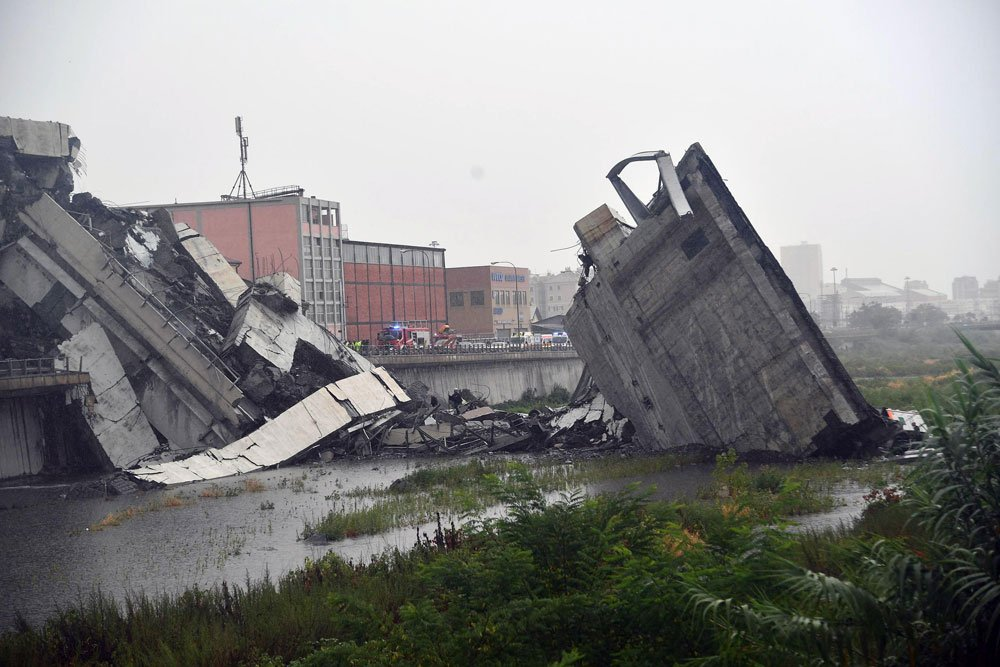 Aumenta a 39 el número de victimas por el derrumbe del puente Génova