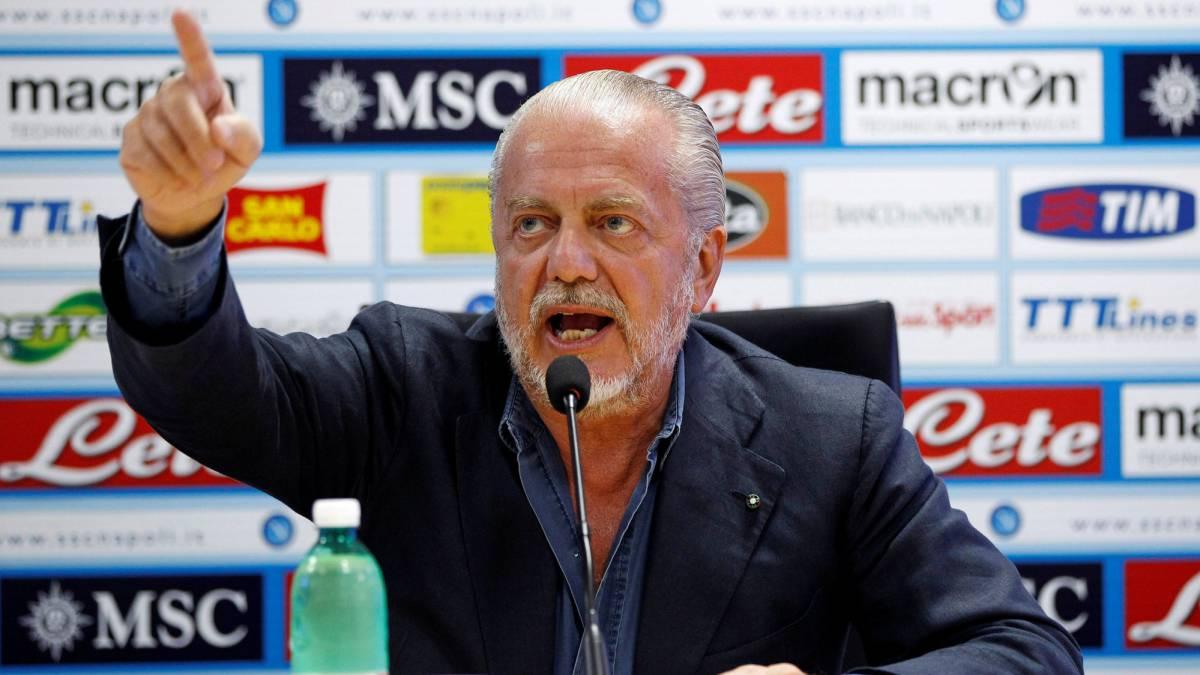 Presidente del Nápoles arremetió contra el fichaje de Cristiano Ronaldo en la Juventus