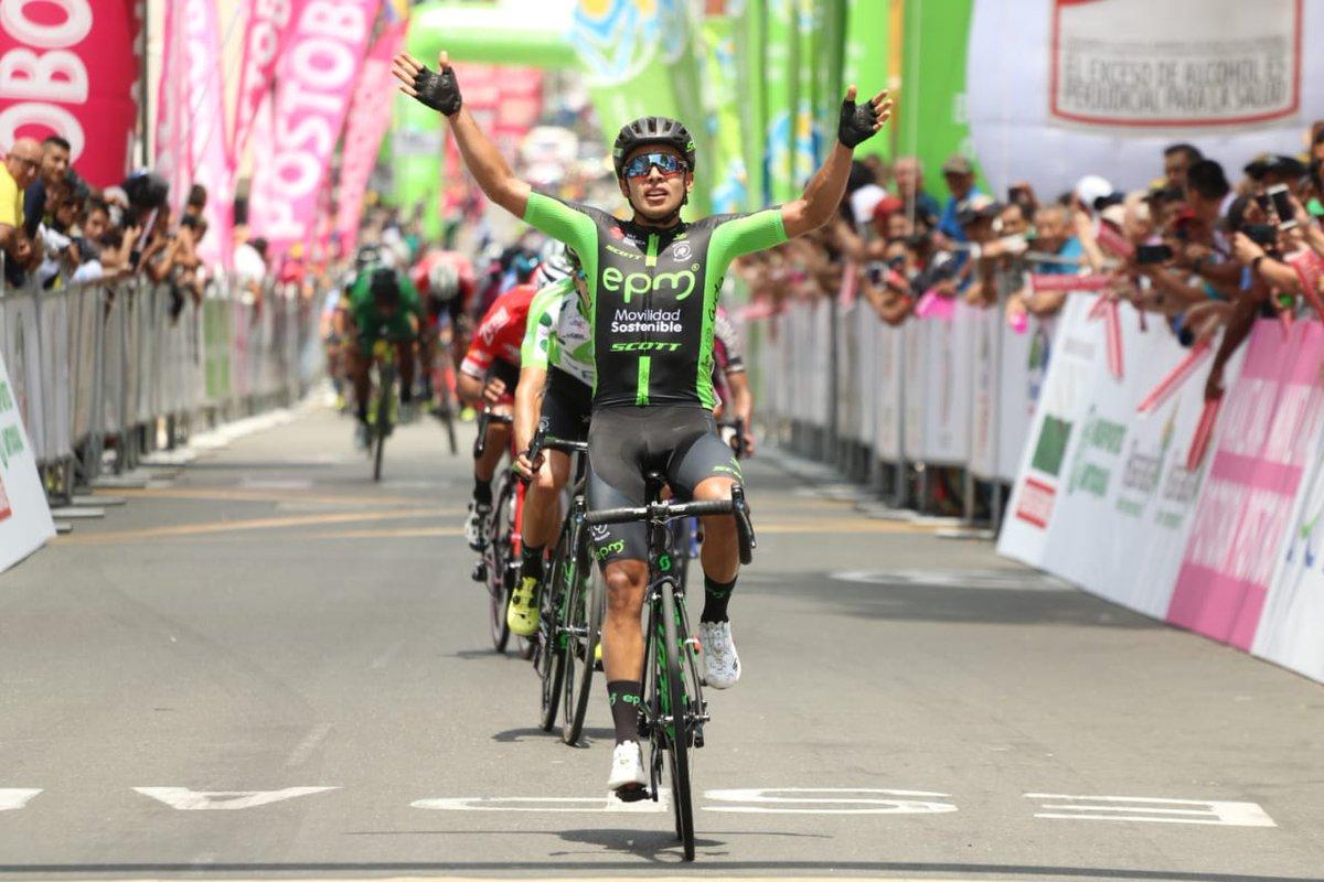 Diego Ochoa ganó la segunda etapa de la Vuelta a Colombia 2018