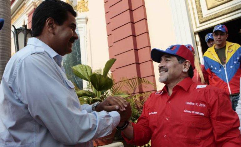 Maradona con Maduro