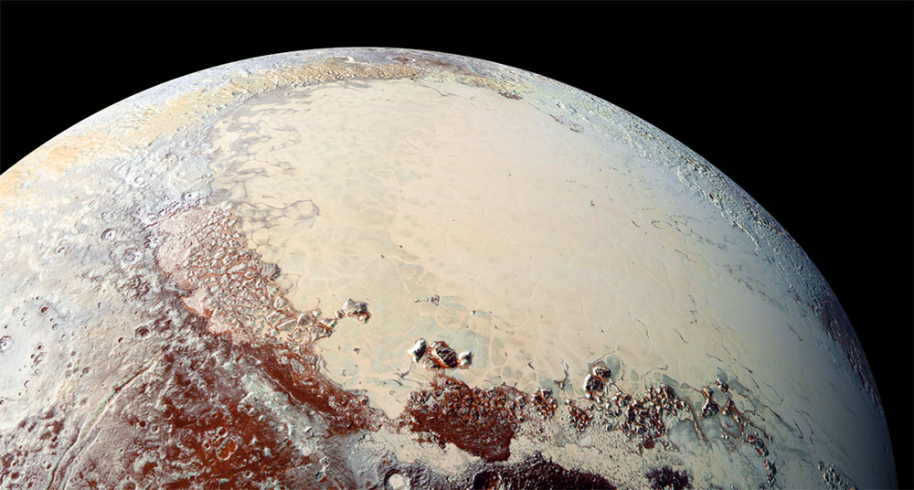 Científicos descubren el misterio que rodea la nieve de las montañas de Plutón