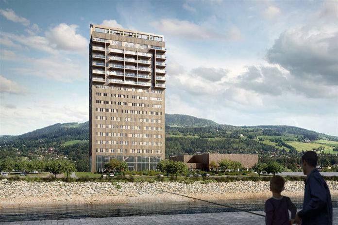 (Video) Noruega construye la torre de madera más alta del mundo