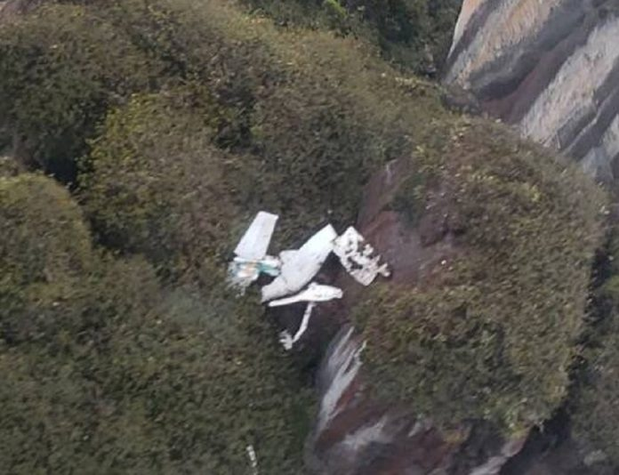 Avioneta desaparecida choca contra pared de piedra en el «callejón del diablo»