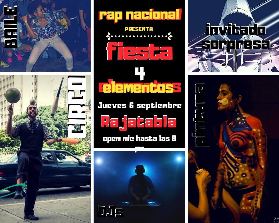 La Fiesta de los 4 elementos: Evento de Rap será hasta la media noche en Caracas