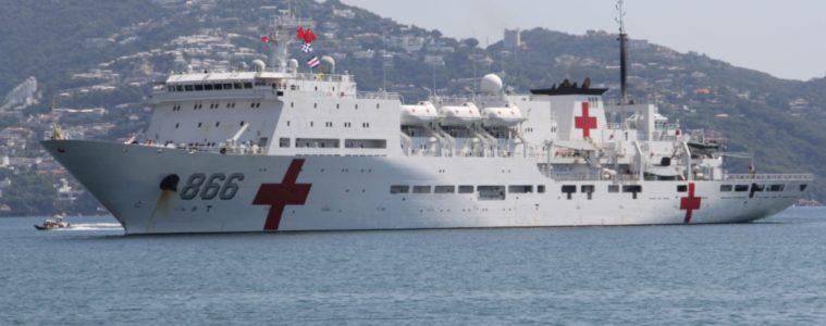"(Video) Llega a Venezuela el buque hospital de China ""Arca de la Paz"""