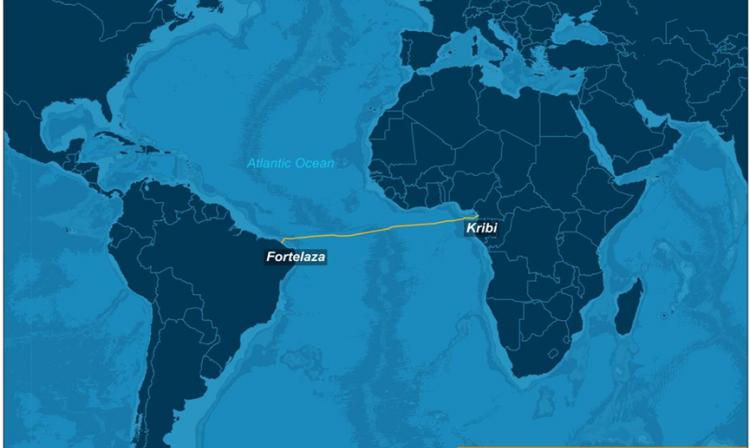 Suramérica y África conectadas por un cable submarino de fibra óptica