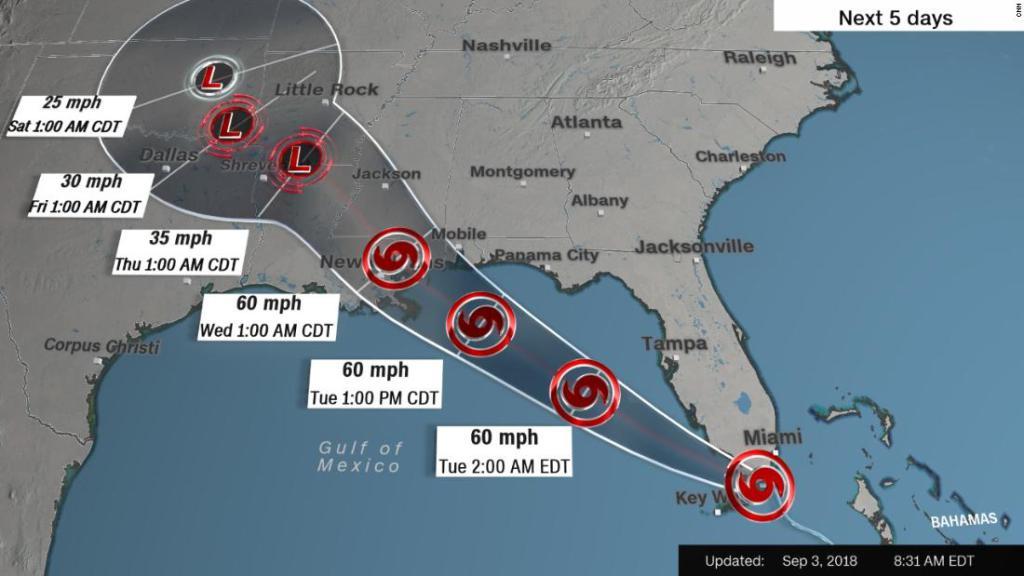 (Video) Gordon: La tormenta tropical que azota el Sur de los EE. UU.