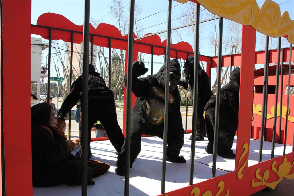 """(Fotos) Un circo con personas disfrazadas y peluches fue denunciado por """"maltrato animal"""""""