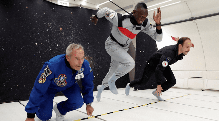 Usaint Bolt en el espacio