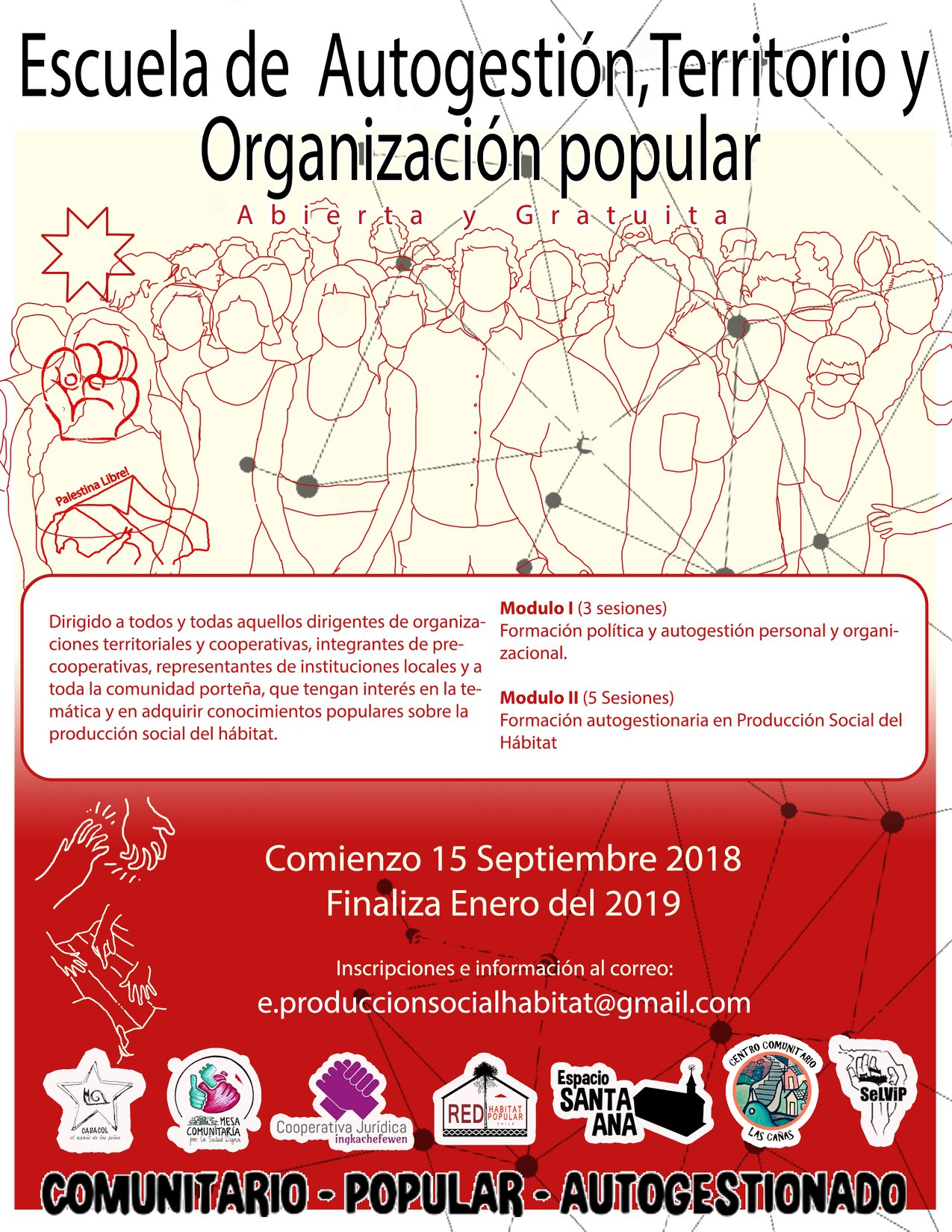 Valparaíso: Convocan a escuela de autogestión y organización popular en Espacio Santa Ana