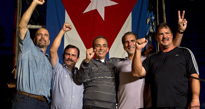 Los Cinco Héroes cubanos reafirman su lucha por la victoria ante bloqueo estadounidense