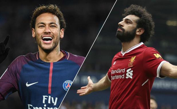 Champions League abre con choque entre Neymar y Mohamed Salah