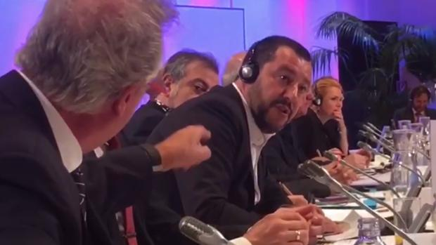 (Video) «A la mierda», la expresión del Canciller de Luxemburgo tras escuchar a Salvini