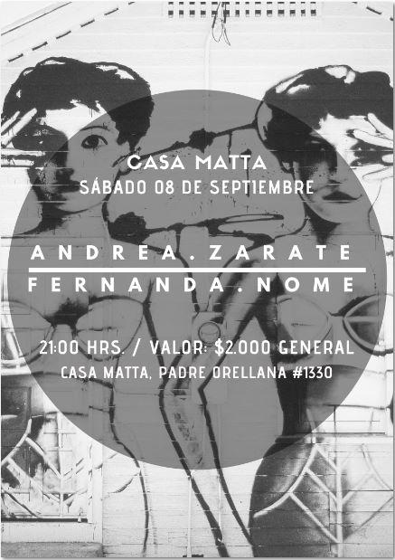 La música de Andrea Zárate y Fernanda Nome este sábado en Casa Matta