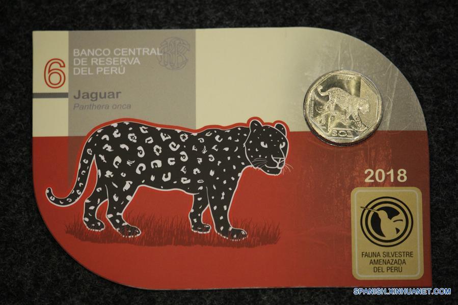 Una moneda que promueve la protección del jaguar circula en Perú