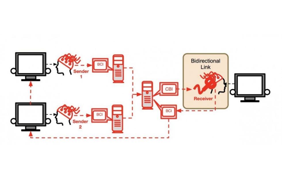 Científicos logran conectar los cerebros de tres personas mediante BrainNet