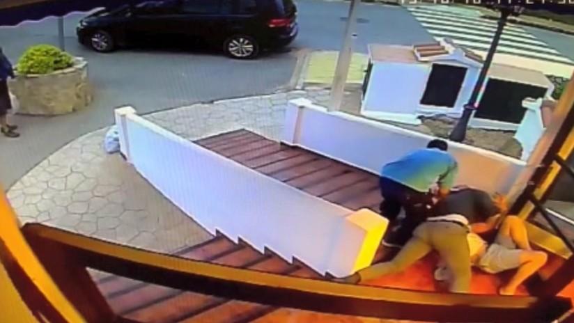 (Vídeo) Un empresario argentino salva a una mujer de ser golpeada por su expareja en una isla española