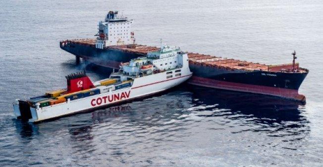 Choque entre buques produjo derrame de petróleo en costa francesa