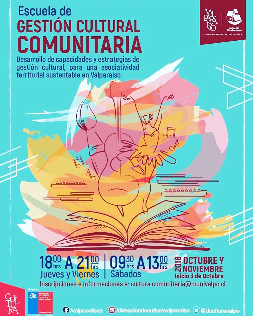 Valparaíso: Municipio ejecutará su primera Escuela de Gestión Cultural para organizaciones comunitarias