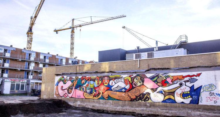 Encuentran mural perdido de la Brigada Ramona Parra durante una demolición en Holanda