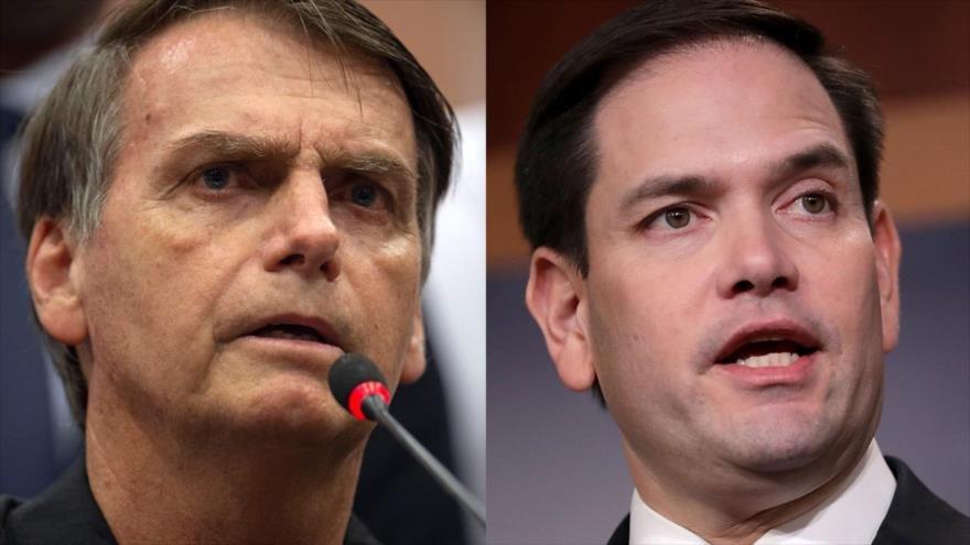 Al descubierto: Desvelan nexos de Bolsonaro con el senador estadounidense Marcos Rubio