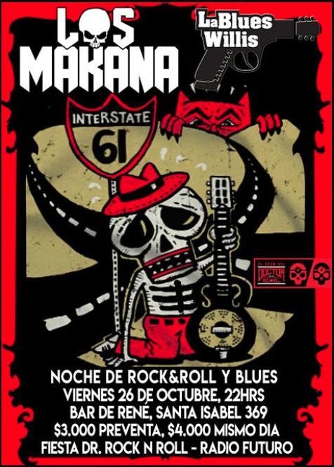 Los Makana + La Blues Willis en Bar de René