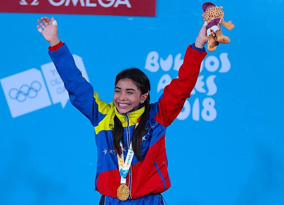 Ganadora de la medalla de Oro