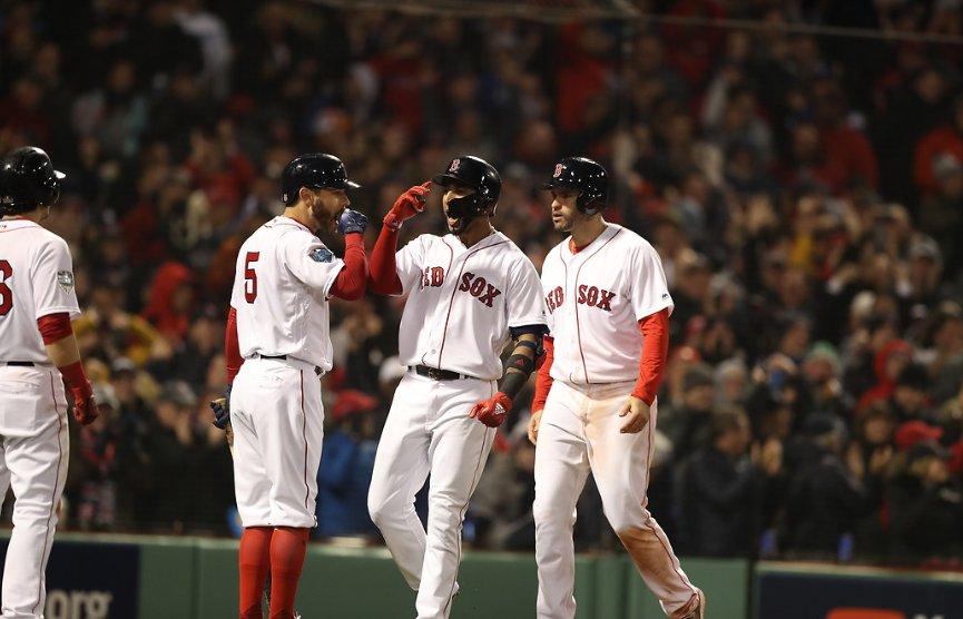 Medias Rojas de Boston pegan primero en la Serie Mundial de Estados Unidos