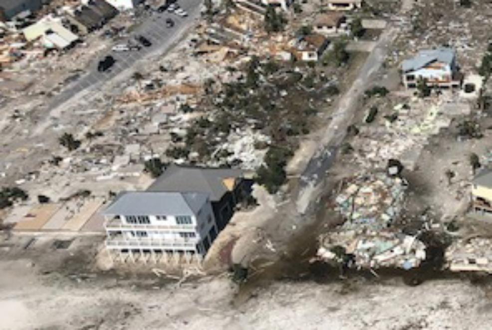 Los secretos de construcción ayudó a que «El Palacio de Arena» se mantuviera en pie ante el paso del feroz huracán Michael
