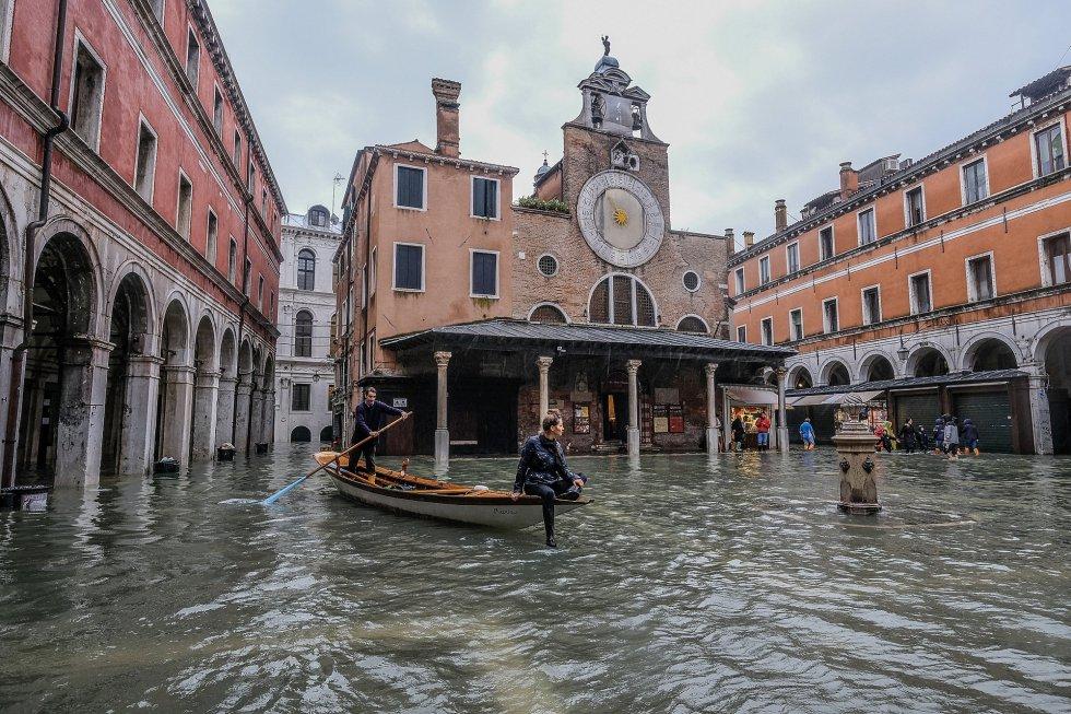 (Fotos) Se mantiene la alerta naranja en Venecia por lluvias torrenciales