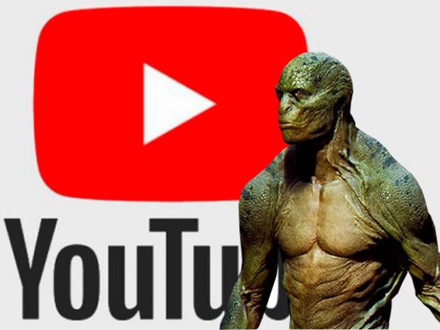 ¡De otro mundo! Unos reptilianos causaron la caída mundial de YouTube