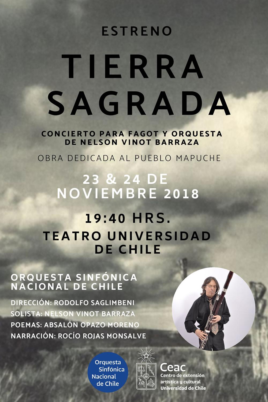 """Orquesta Sinfónica Nacional estrena """"Tierra Sagrada"""", obra dedicada al pueblo Mapuche"""