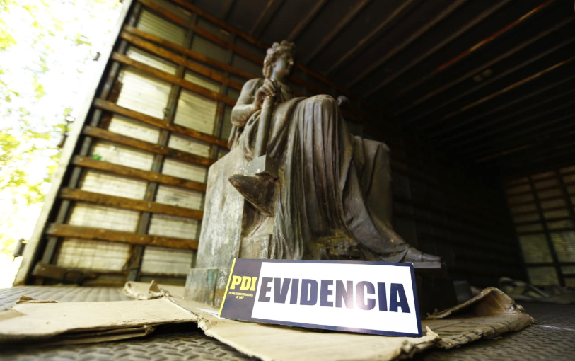 Empresario vinculado a robo de esculturas aparece recibiendo fondos públicos