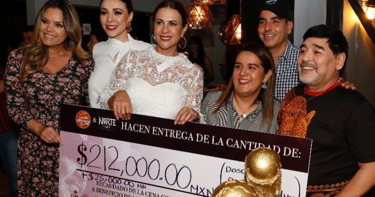 Maradona recauda fondos para afectados por huracán en Sinaloa
