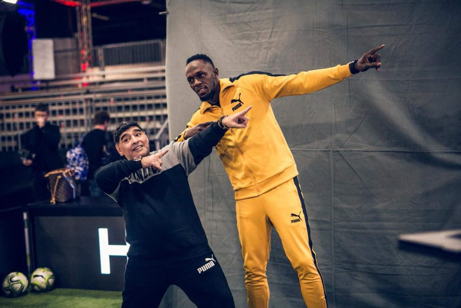 Maradona podría fichar a Usain Bolt en 2019 para el Dorados mexicano
