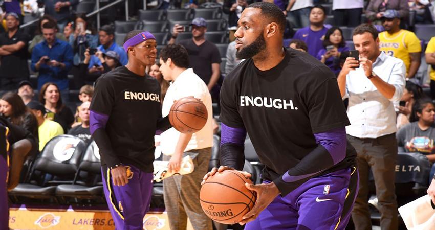 La NBA se manifiesta contra la violencia en Estados Unidos